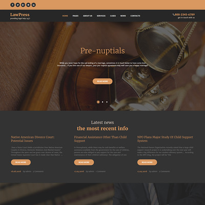 LawPress (WordPress theme for lawyers and law firms) Item Picture