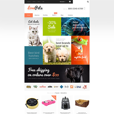 Love Pets WooCommerce Theme (WooCommerce theme for animals and pets) Item Picture
