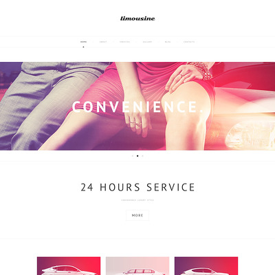 Luxury Limousine Services WordPress Theme (WordPress theme for car, vehicle, and automotive websites) Item Picture