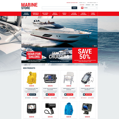 Marine Supplies Magento Theme (Magento theme for marine, yachting, and diving stores) Item Picture