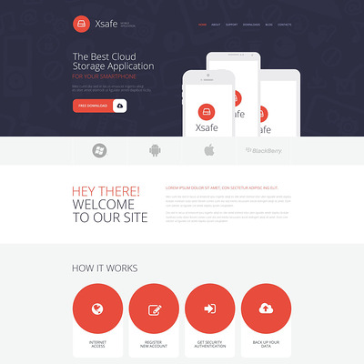 Mobile App Store WordPress Theme (WordPress theme for promoting apps) Item Picture