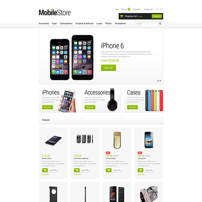 Mobile Phones OpenCart Template (OpenCart theme for electronics) Item Picture