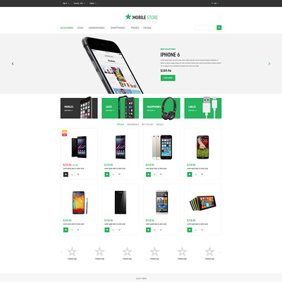 Mobile Store PrestaShop Theme (PrestaShop theme for electronics stores) Item Picture