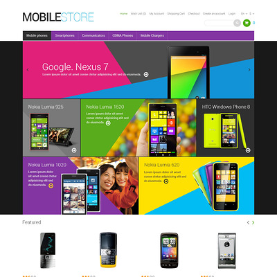 Mobile Store Responsive OpenCart Template (OpenCart theme for electronics) Item Picture