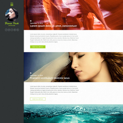 Personal Page WordPress Theme (WordPress theme for photogaphers) Item Picture