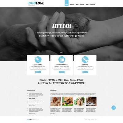 Pet Care Joomla Template (Joomla template for websites about pets and animals) Item Picture