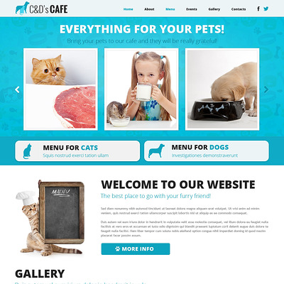 Pet Shop Responsive Joomla Template (Joomla template for websites about pets and animals) Item Picture