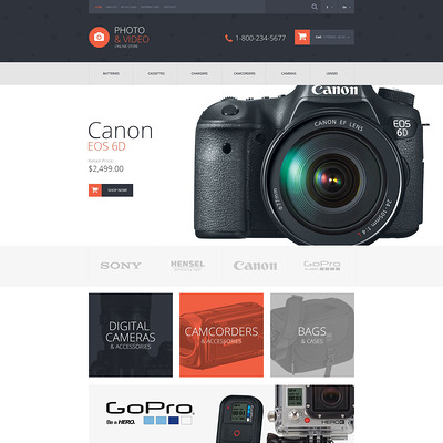 Photo and Video Stuff OpenCart Template (OpenCart theme for electronics) Item Picture