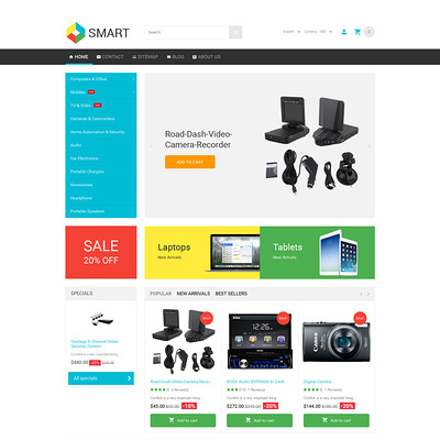 Smart PrestaShop Theme (PrestaShop theme for electronics stores) Item Picture