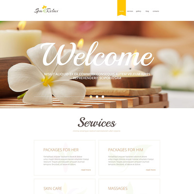 Spa Accessories Responsive WordPress Theme (WordPress theme for hair and beauty salons and spas) Item Picture