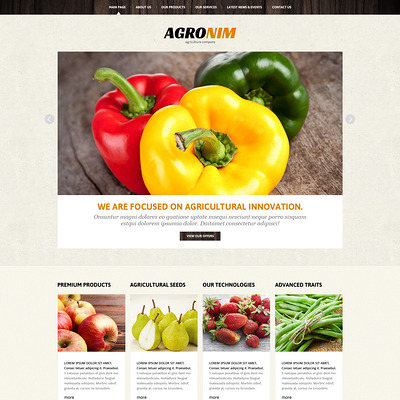 Vegetable Responsive Joomla Template (Joomla theme for agriculture and farms) Item Picture