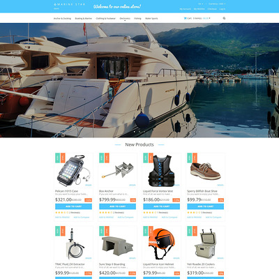 Yachting Responsive Magento Theme (Magento theme for marine, yachting, and diving stores) Item Picture