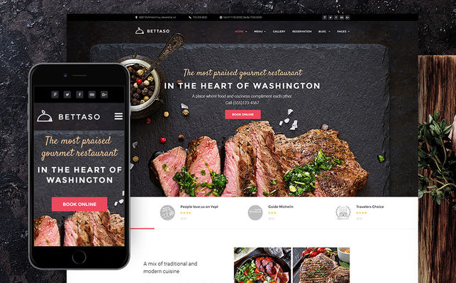 best bakery restaurant pub wordpress themes feature
