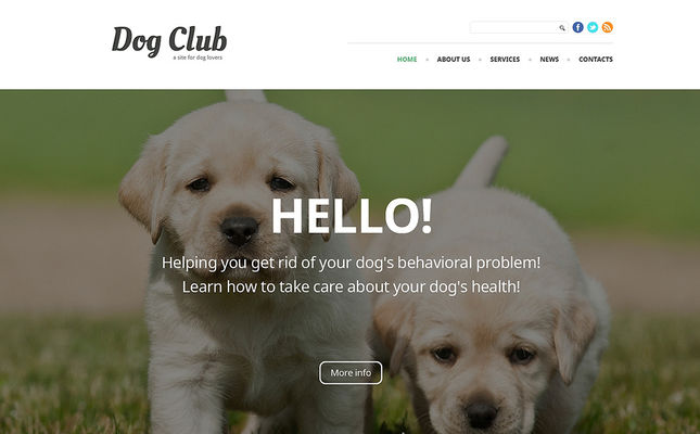 best joomla templates pets animals feature