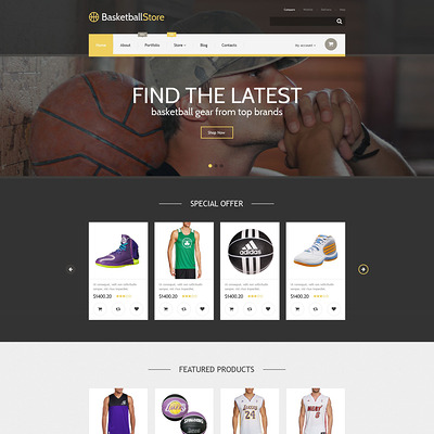 Basketball Store WooCommerce Theme (WooCommerce theme for sports, gym, and fitness stores) Item Picture