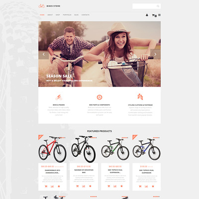Bikes Store WooCommerce Theme (WooCommerce theme for sports, gym, and fitness stores) Item Picture