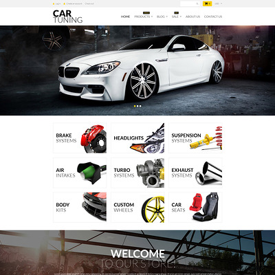 Car Tuning Shopify Theme (parallax Shopify theme) Item Picture