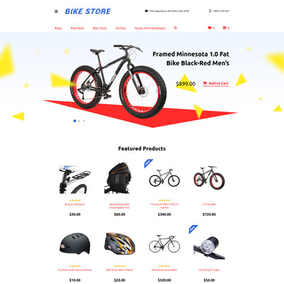 Cycling Responsive OpenCart Template (OpenCart theme for sports, gym, and fitness stores) Item Picture