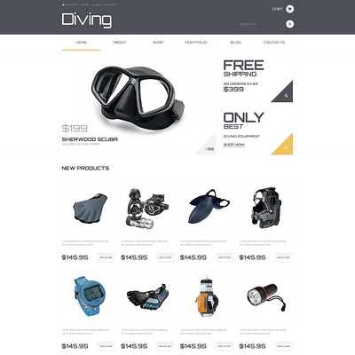 Diving Responsive WooCommerce Theme (WooCommerce theme for marine, yachting, diving, and fishing stores) Item Picture