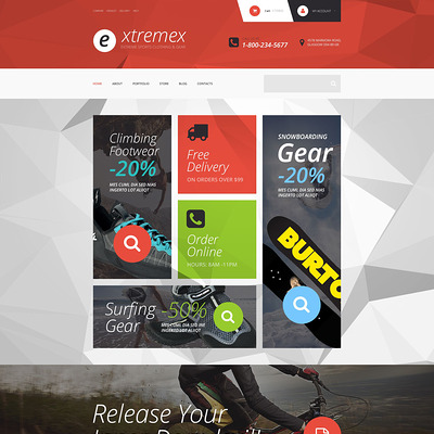 Extremex WooCommerce Theme (WooCommerce theme for sports, gym, and fitness stores) Item Picture