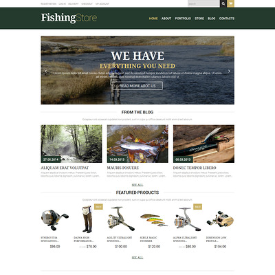 Fishing Responsive WooCommerce Theme (WooCommerce theme for marine, yachting, diving, and fishing stores) Item Picture