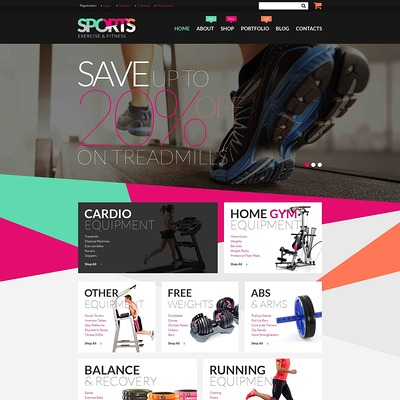 Fitness Equipment WooCommerce Theme (WooCommerce theme for sports, gym, and fitness stores) Item Picture