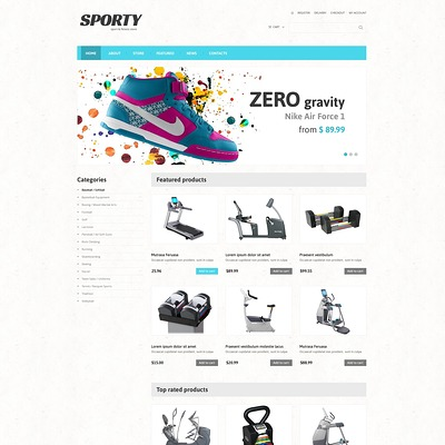 Fitness Responsive WooCommerce Theme (WooCommerce theme for sports, gym, and fitness stores) Item Picture
