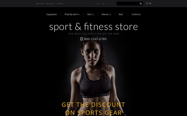 best fitness gym sports opencart themes stores feature