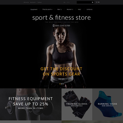 Fitness Training OpenCart Template (OpenCart theme for sports, gym, and fitness stores) Item Picture