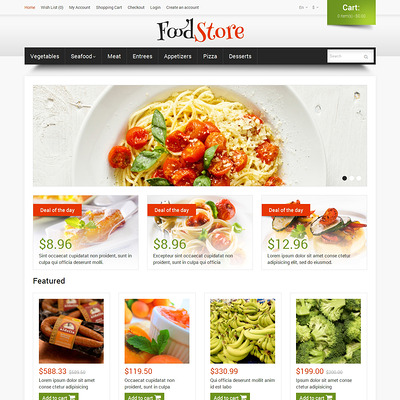 Food Shop OpenCart Template (OpenCart theme for selling food and spices) Item Picture