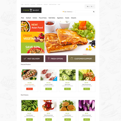 Food Store Responsive OpenCart Template (OpenCart theme for selling food and spices) Item Picture