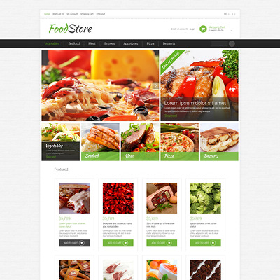 Grocery Store Responsive OpenCart Template (OpenCart theme for selling food and spices) Item Picture
