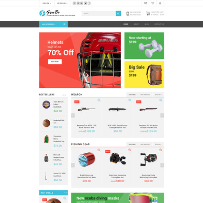 GymBo (OpenCart theme for sports, gym, and fitness stores) Item Picture