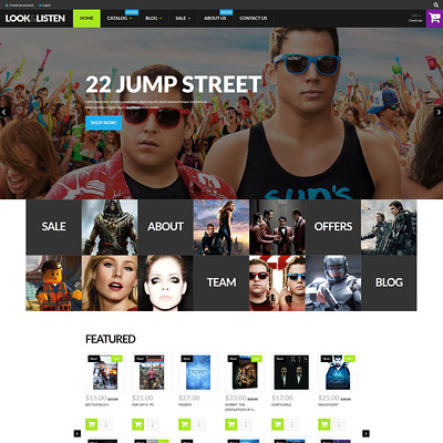 Look Listen Play Shopify Theme (parallax Shopify theme) Item Picture