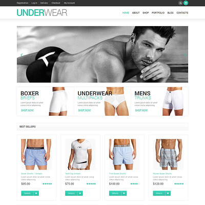 Male Underwear WooCommerce Theme (WooCommerce theme for selling lingerie and underwear) Item Picture