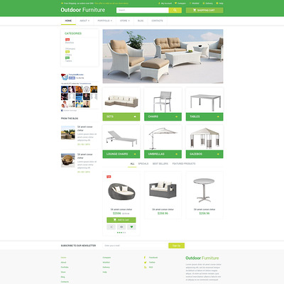 Outdoor Comfort WooCommerce Theme (WooCommerce theme for furniture stores) Item Picture
