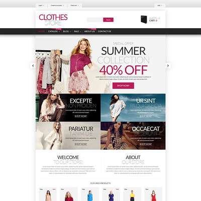 Shopping in Style Shopify Theme (parallax Shopify theme) Item Picture