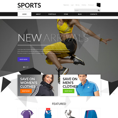 Sports Apparel WooCommerce Theme (WooCommerce theme for sports, gym, and fitness stores) Item Picture