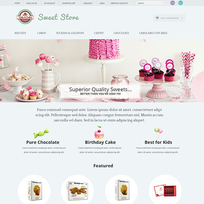 Sweets OpenCart Template (OpenCart theme for selling food and spices) Item Picture