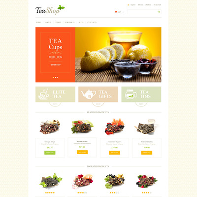 Tea Shop WooCommerce Theme (WooCommerce theme for selling tea and coffee) Item Picture