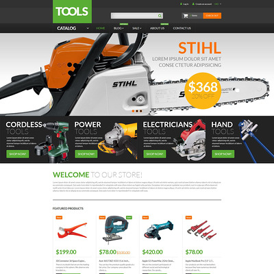 Tools Equipment Shopify Theme (parallax Shopify theme) Item Picture