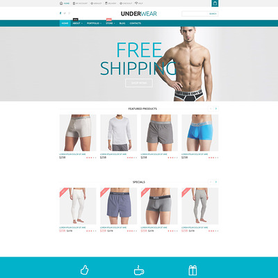 Underwear Store WooCommerce Theme (WooCommerce theme for selling lingerie and underwear) Item Picture