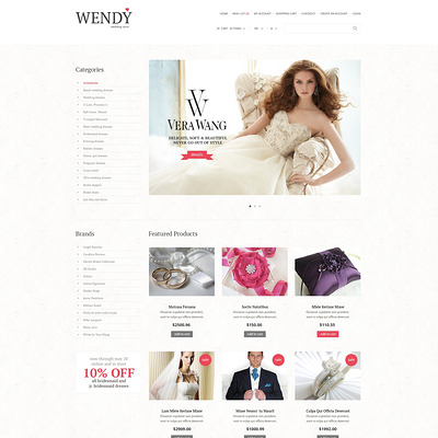 Wedding Shop Responsive OpenCart Template (OpenCart theme for wedding stores) Item Picture