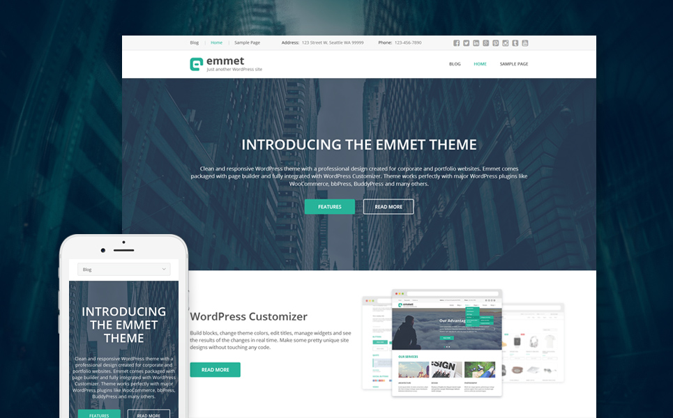 Business Responsive WordPress Theme (stunning WordPress theme) Item Picture