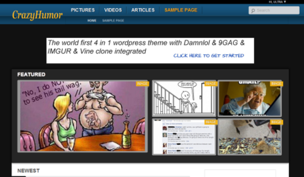 Crazyhumor (viral WordPress theme with frontend submission) Item Picture