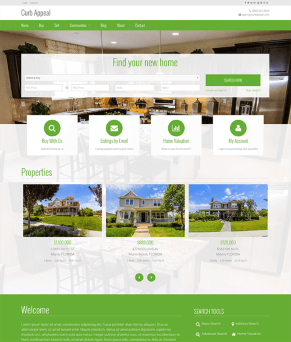 Curb Appeal (real-estate WordPress theme) Item Picture