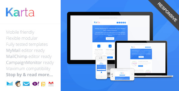 Karta, Minimalist Responsive Email Template (email template) Item Picture