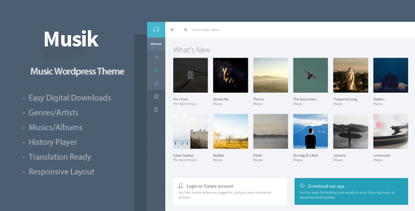Musik (WordPress theme for radio stations) Item Picture