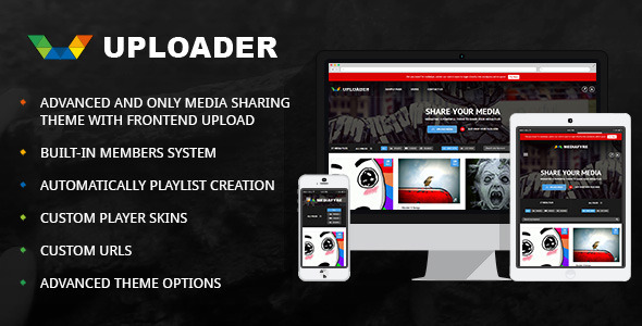 Uploader (viral WordPress theme with frontend submission) Item Picture