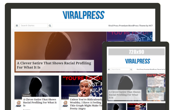 ViralPress  (viral WordPress theme with frontend submission) Item Picture